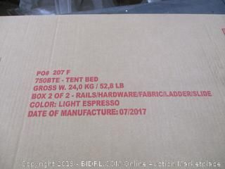 Tent Bed Box 2 of 2 Only incomplete set