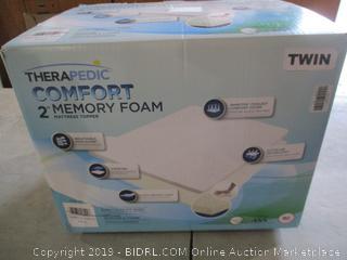 """Twin 2"""" Memory Foam Mattress Topper"""