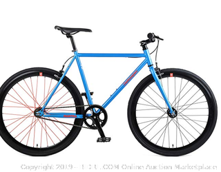 Retrospec by Westridge Mantra V2 Single Speed Fixed Gear Bicycle, Sky Blue, 49cm/Small (Online $359)