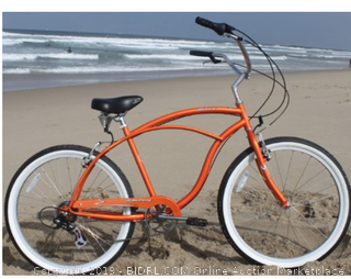 Firmstrong Urban Man Three Speed Beach Cruiser Bicycle, 26-Inch, Black ($Online $359) (Picture is orange but bike black)