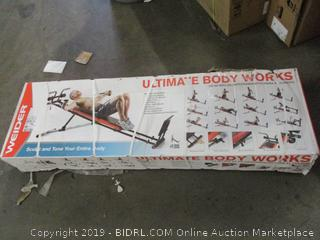 Weider ultimate body works bench workout system