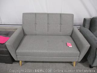 Christopher Knight Home Angelina Mid Century Fabric Loveseat, Grey/Natural