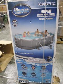 Bestway 16ft x 10ft x 42in Power Steel Above Ground Swimming Pool