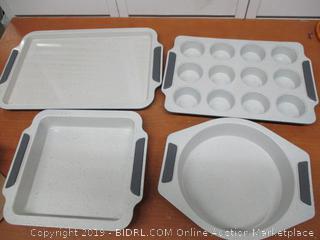 Viking Culinary 4030-9984-CGY Ceramic Coated Nonstick Bakeware Set