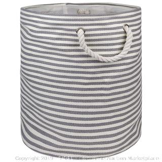 "Woven Paper Storage Bin, Collapsible, 20x15"", Gray"