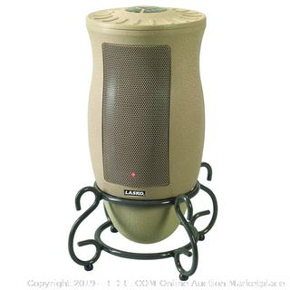 Lasko Designer Series Ceramic Space Heater-Features Oscillation, Remote, and Built-in Timer (online $46) Factory Sealed