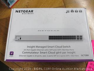NETGEAR 28-Port Gigabit Ethernet Insight Managed Smart Cloud Switch (GC728X) - with 2 x 1G SFP and 2 x 10G SFP+, (Retail $260)