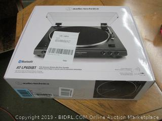 Audio-Technica AT-LP60XBT-BK Fully Automatic Bluetooth Belt-Drive Stereo Turntable (Retail $150)