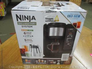 Ninja Hot and Cold Brewed System, Auto-iQ Tea and Coffee Maker with 6 Brew Sizes, 5 Brew Styles, Frother, Thermal Carafe (CP307) (Retail $240)