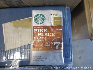 Starbucks Pike Place Medium Roast Whole Bean Coffee, 12oz Bag