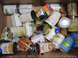 Box Lot Canned Food, Stagg Chili