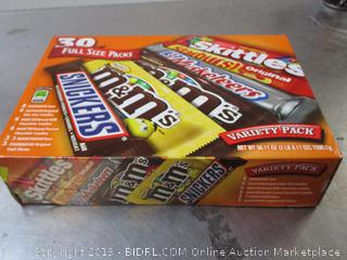 M&M's, Snickers, Starburst