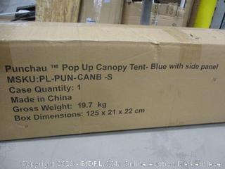 Pop Up Canopy tent -blue with side panels