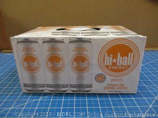 hi-ball Energy Peach Sparkling Energy Water