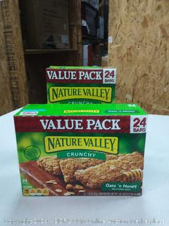 Nature Valley Granola Bars, Crunchy, Oats and Honey, 1.49 Ounce , 24 Count x 2 packs