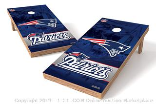 NFL Tailgate Toss XL Shields Regulation Cornhole Set, New England Patriots (online $199)