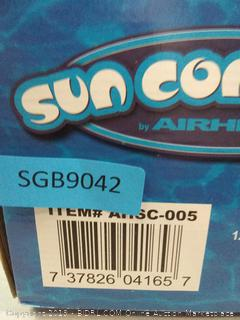 Sun Comfort pool float blue swirl