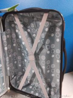 Rockland 20-inch silver spinner suitcase