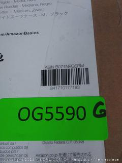 amazonbasics hardside luggage spinner medium black