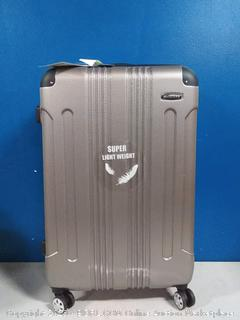 Rockland 28in silver spinners suitcase