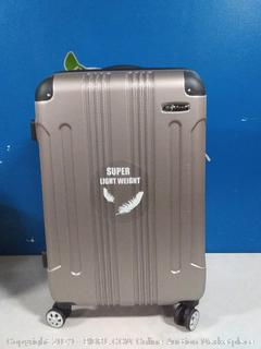 Rockland silver 24-inch spinner suitcase