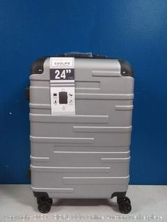 cool life 24in silver spinner suitcase (online $79)