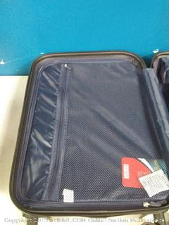 coolife 20 in silver spinner suitcase (online $59)