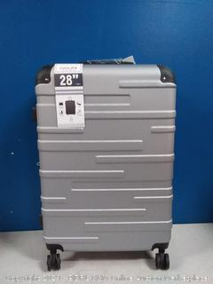 coolife 28 inch spinner suitcase silver (online $99)