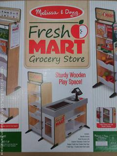 Melissa & Doug Wooden Fresh Mart Grocery Store - (Online $160) The Original (Freestanding Grocery Stand Kids Toy, Great Gift for Girls & Boys - Best for 3, 4, 5, 6, 7 Year Olds and Up)