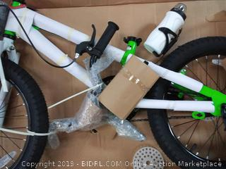 """RoyalBaby Freestyle Kid's Bike for Boys and Girls with Training Wheels, in Green, 18"""" (Online $149.99)"""