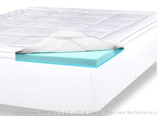 ViscoSoft 4 Inch Pillow Top Gel Memory Foam Mattress Topper Twin XL Serene Dual Layer Mattress Pad