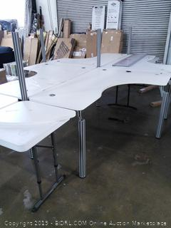 4 Person Desk with Cubicles (can be reorganized to different configurations)