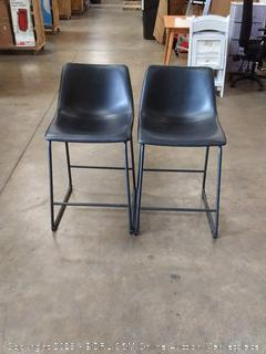 black counter stool two chairs