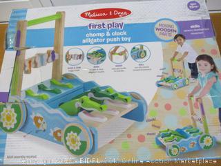 Melissa & Doug First Play Chomp & Clack Alligator Push Toy