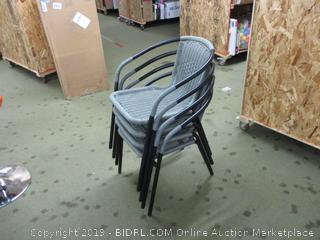 Set of four wicker chairs