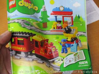 LEGO DUPLO Steam Train 10874 Remote-Control Building Blocks Set Helps Toddlers Learn, Great Educational Gift