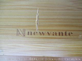 Laptop Desk, NNEWVANTE Bamboo Laptop Table Adjustable, Desk Great Heat Dissipation [2 USB Fans]