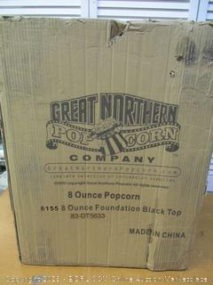 Great Northern Popcorn Black 8 oz. Ounce Foundation Movie Theater Style Popcorn Machine Top (Retail $200)