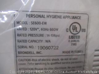 Brondell Swash SE600 Bidet Toilet Seat, Fits Elongated Toilets, (Retail $400)