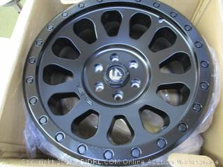 FUEL Vector BD -Matte BLK Wheel with Painted (17 x 8.5 inches /6 x 120 mm, 7 mm Offset) (Retail $225)