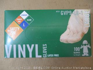The Safety Zone - Vinyl Gloves - Large - Box of 100