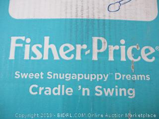 Fisher Price- Sweet Snugapuppy Dreams- Cradle 'n Swing (missing fabric seat cover)