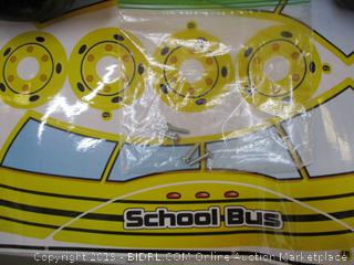 American Plastic Toys- School Bus Ride on Toy