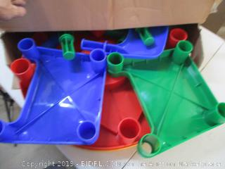 Child's Plastic Activity Table with 2 Chairs