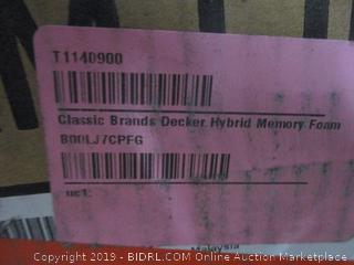 "10.5"" Hybrid Cool Gel Memory Foam and Innerspring Mattress Size Full (Damaged)"