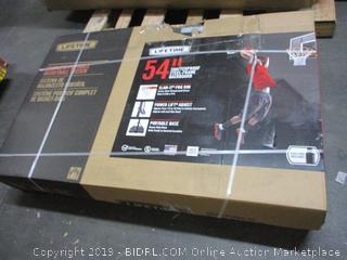 """Lifetime 54"""" Shatterproof Steel-Frame Backboard (Box Damaged)"""