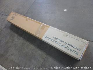 9 in. Quick Snap Standing Mattress Foundation Size Queen (Box Damaged)