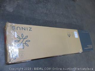 12 in. Deluxe Solid Wood Platform Bed w/ Headboard (Damaged)