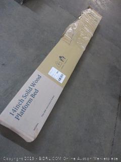 14 in. Solid Wood Platform Bed Size Full (Damaged)