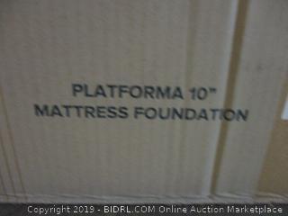 Platforma 10 in. Mattress Foundation Size Queen